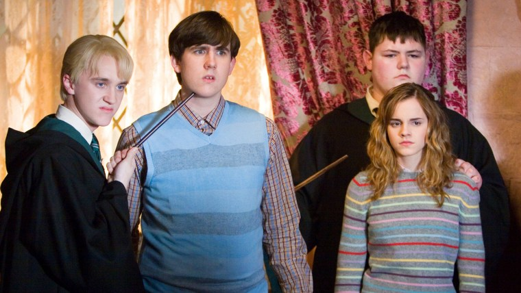 """Emma Watson, Tom Felton and Matthew Lewis in """"Harry Potter and the Order of the Phoenix"""""""