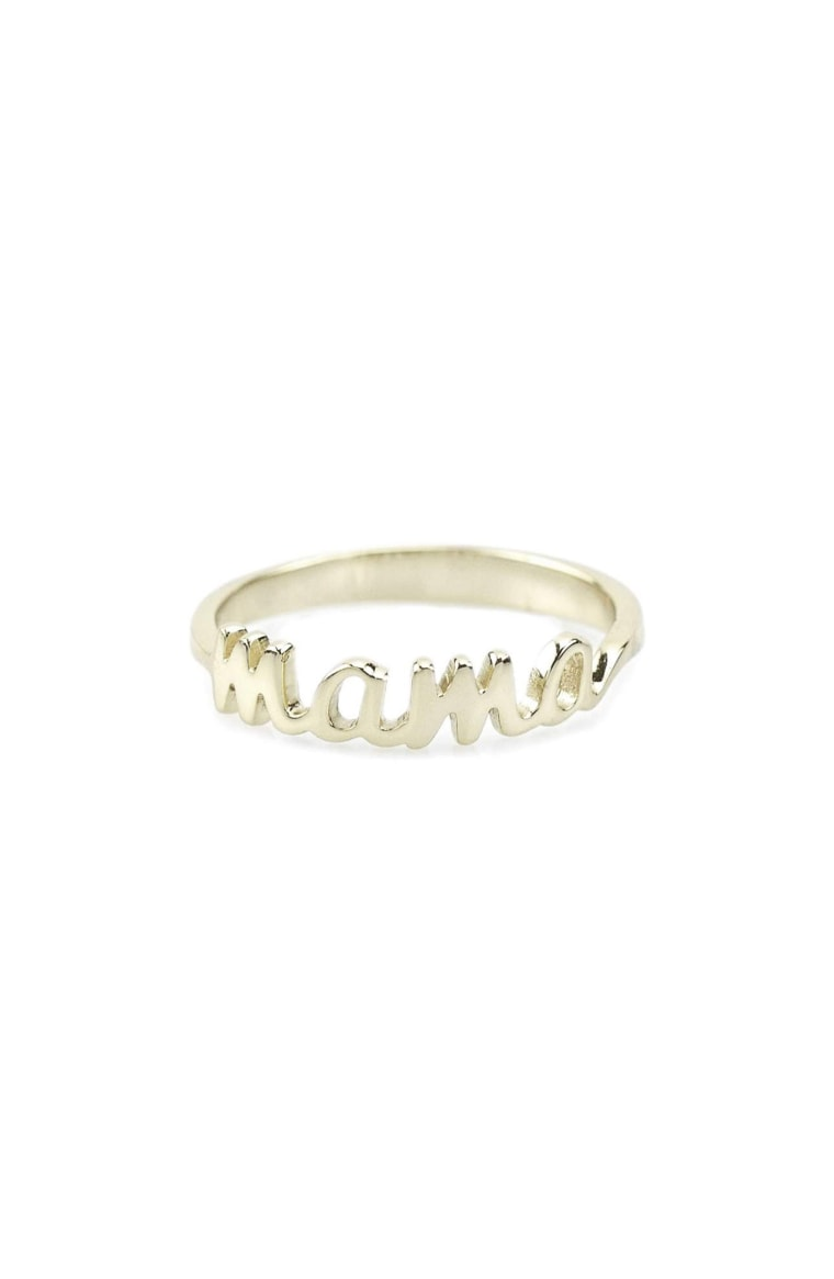 Gifts for new moms, mama ring