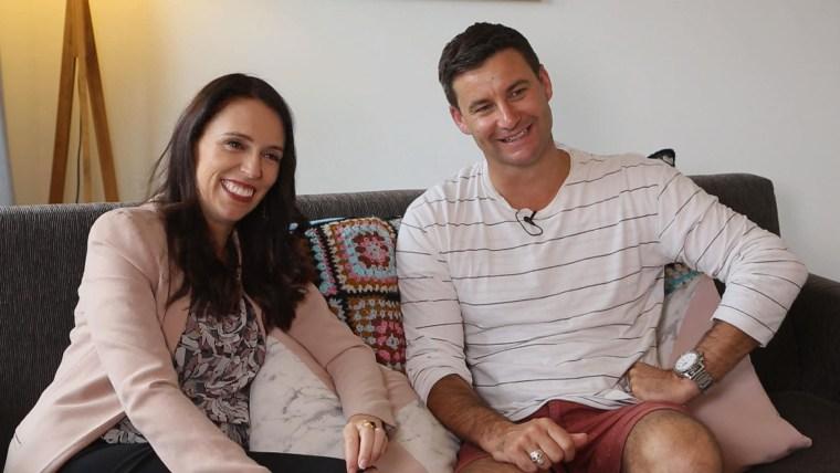 New Zeland prime minister, Jacinda Ardern with boyfriend Clarke Gayford