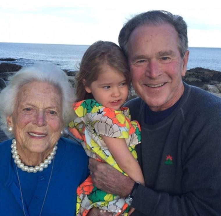 Barbara Bush with George H. Bush