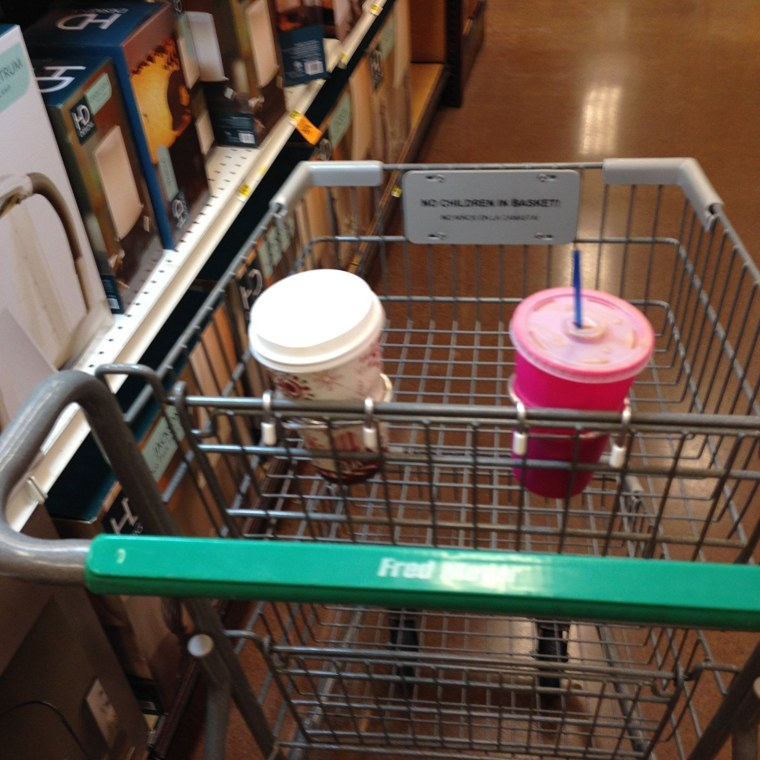 Cup holder for cart
