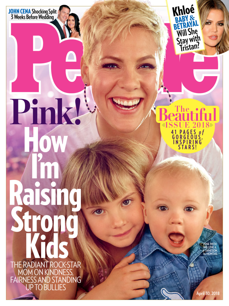 Pink is on the cover of People's Beautiful Issue, along with her adorable children.