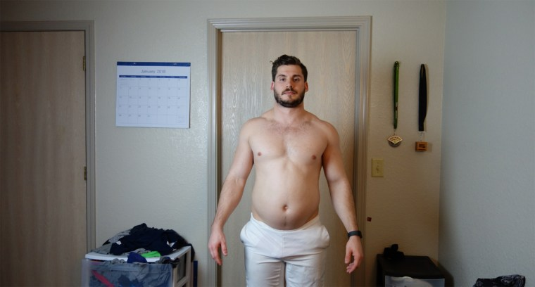 In just three months Hunter Hobbs lost 42 pounds by changing his diet to home-cooked foods and exercising every day.
