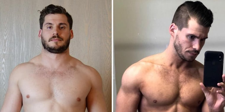 During the three-months Hunter Hobbs was losing weight he took a picture every single day. He combined them all in a dramatic time-lapse video.