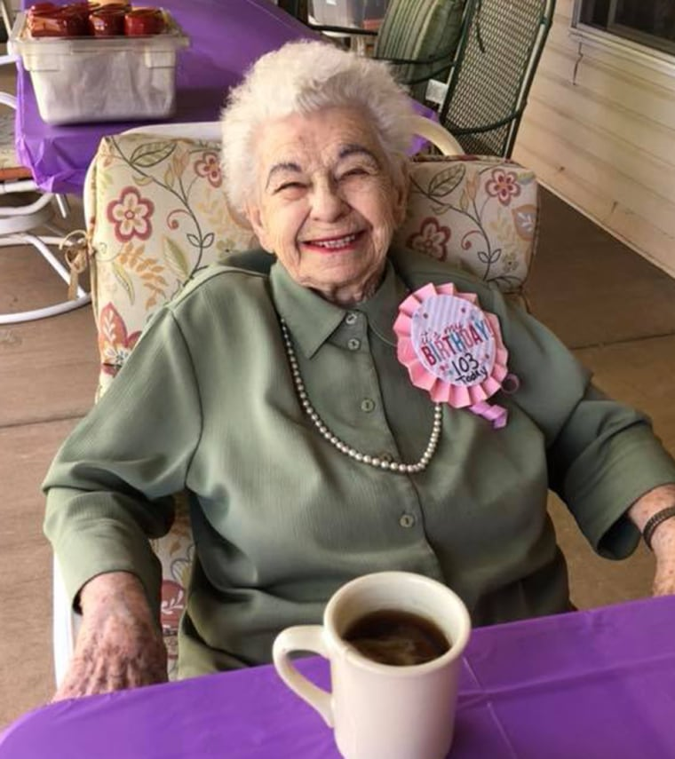103-year-old woman gets cat for birthday
