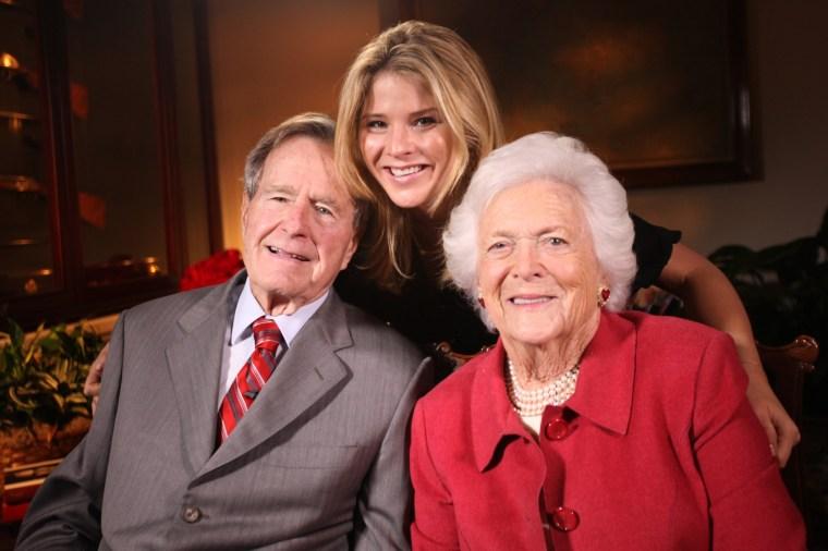 George H. W. Bush, Jenna Bush Hager, and Barbara Bush