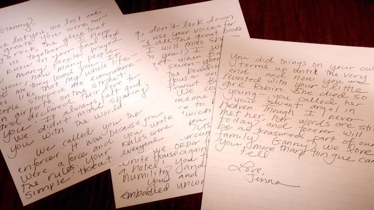 Jenna Bush Hager's letter to Barbara