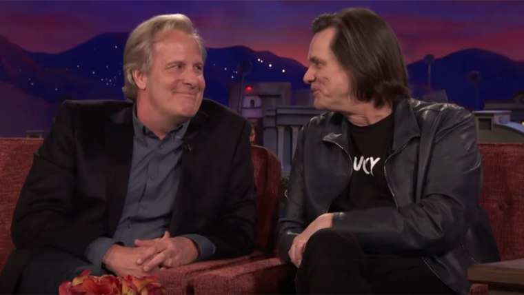 Jim Carrey Crashes Jeff Daniels' CONAN Interview - CONAN on TBS
