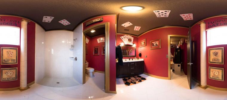 "Take a royal flush in the ""Royal Bathroom."""