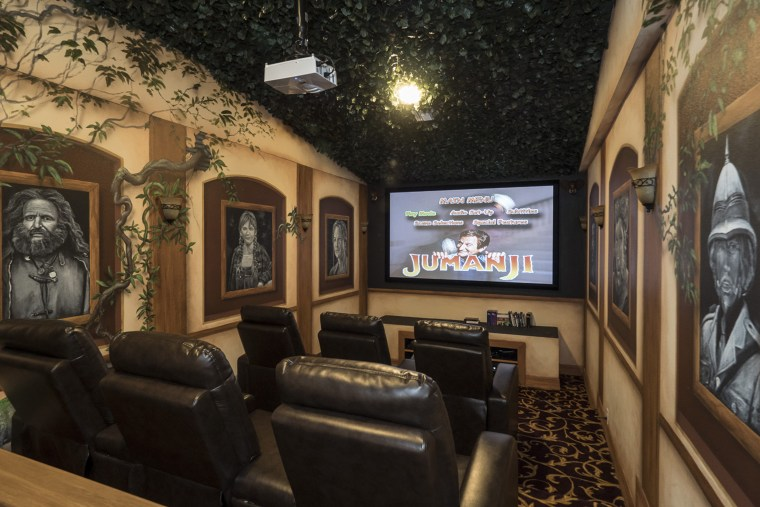 Escape to the Jumanji-themed movie theater for a show.