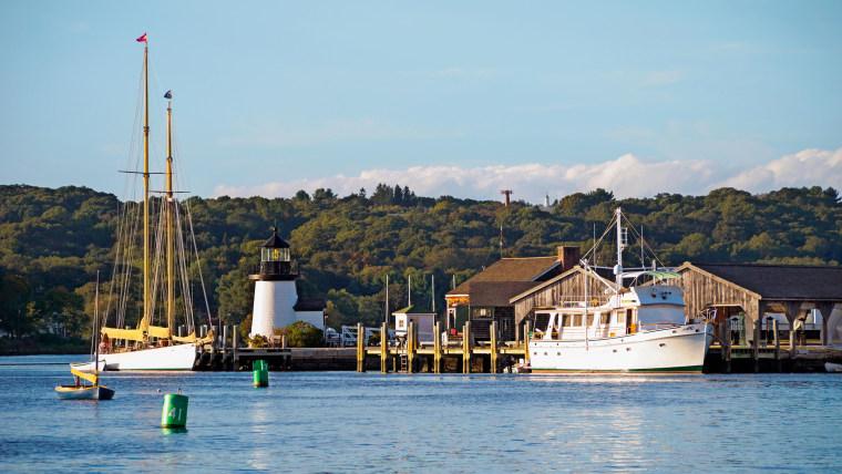 Historic Mystic Seaport waterfront