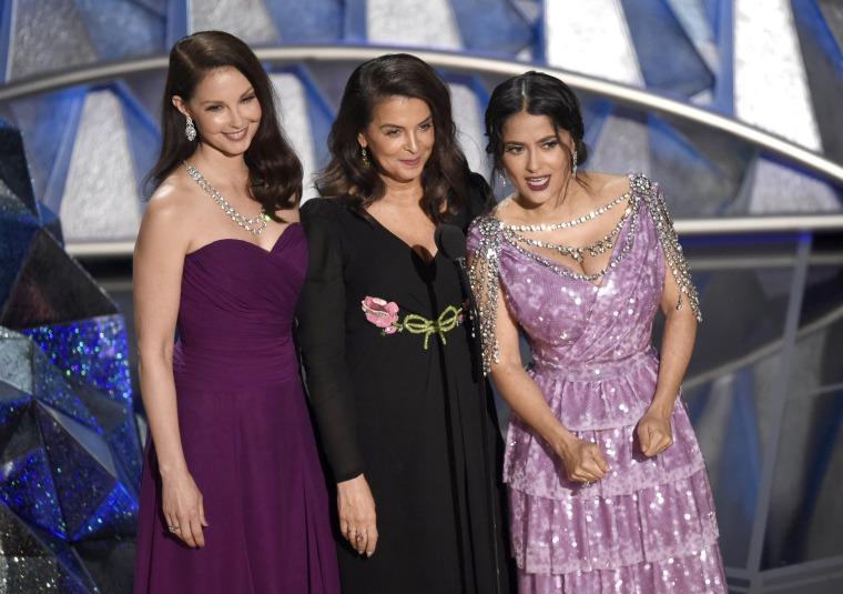 Image: Ashley Judd, Annabella Sciorra, Salma Hayek speak