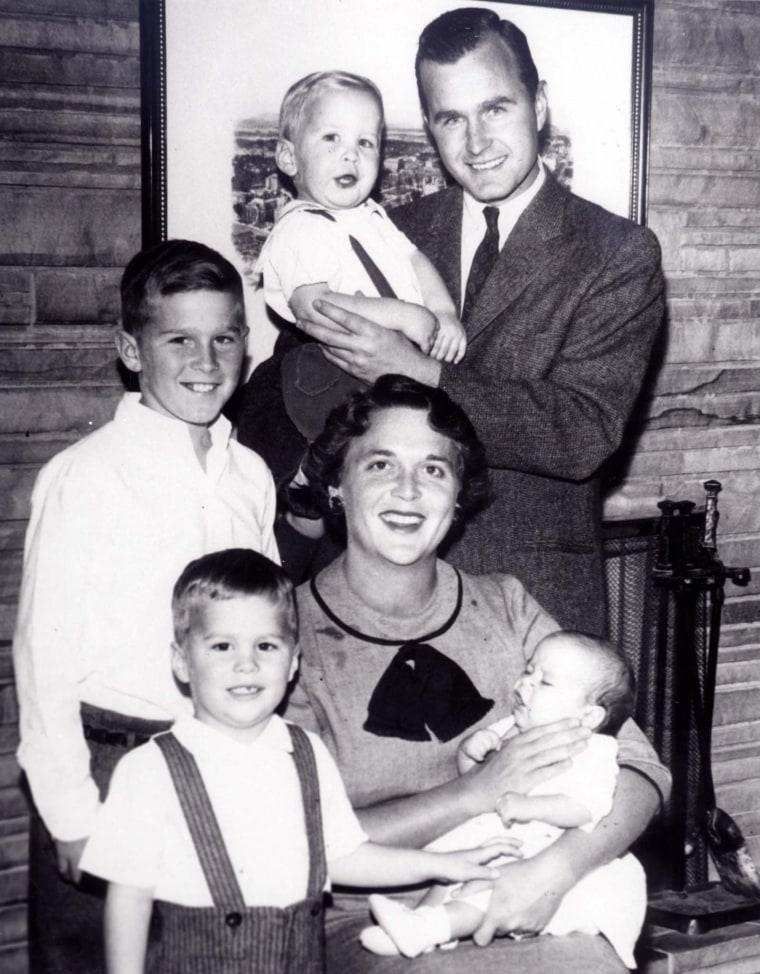 Image:  The Bush family portrait in 1956