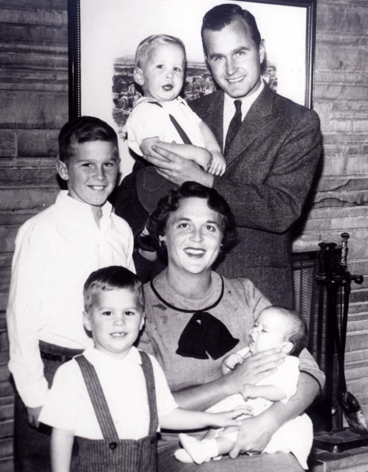 Image:  The Bush family portrait in 1956