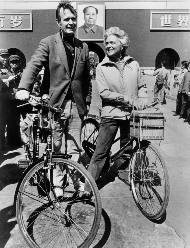 Image: George and Barbara Bush in Beijing in 1974