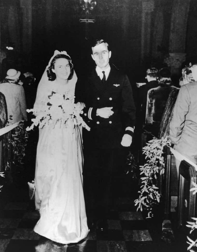 Image: Wedding of George and Barbara Bush