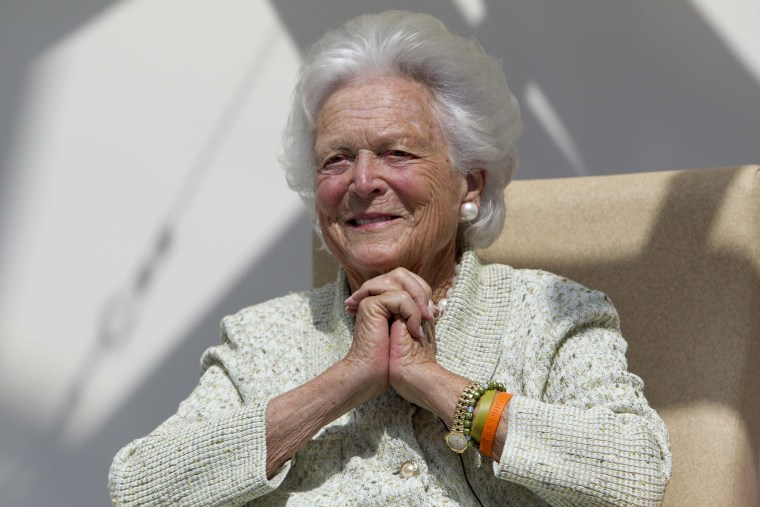 Image: Former first lady Barbara Bush