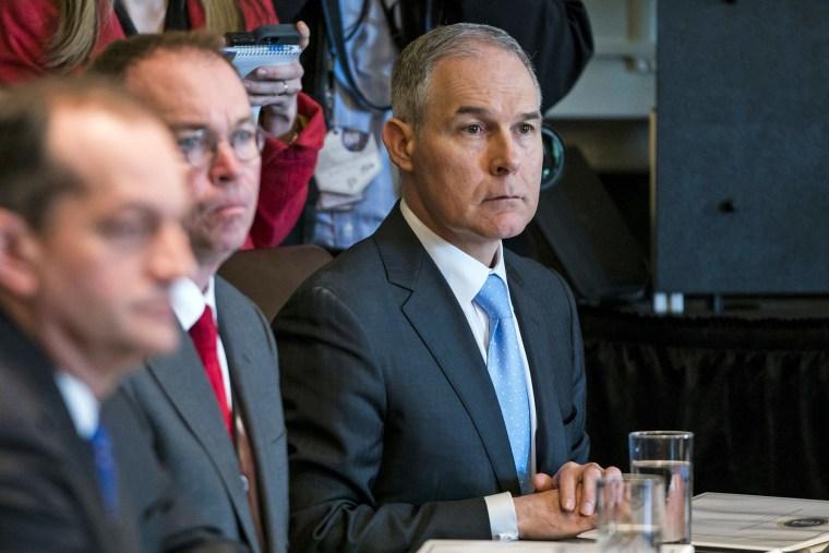 Image: EPA Chief Pruitt attends cabinet meeting at the White House