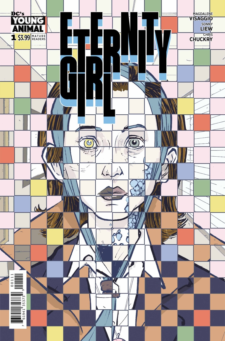 """Image: The cover from an issue of """"Eternity Girl."""""""