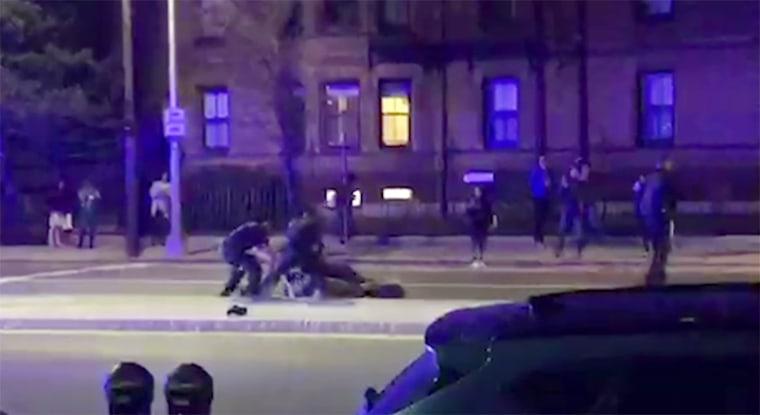 Image: Cambridge Police tackle Harvard Student