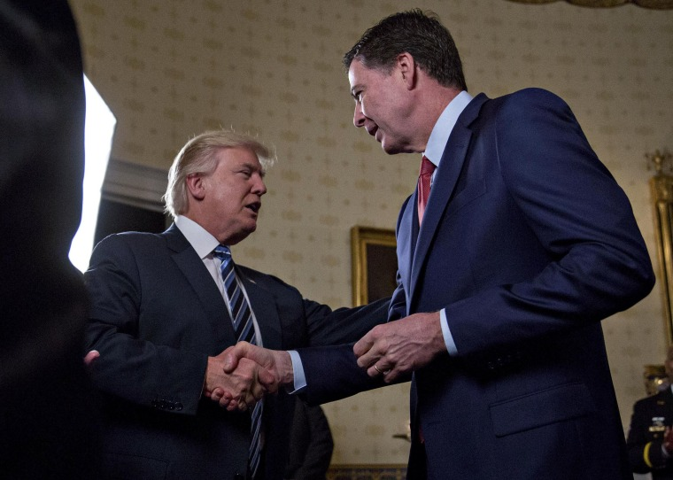 Image: President Trump and James Comey