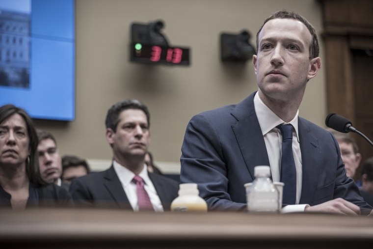 Image: Facebook founder Mark Zuckerberg appears before the House and Energy Committee