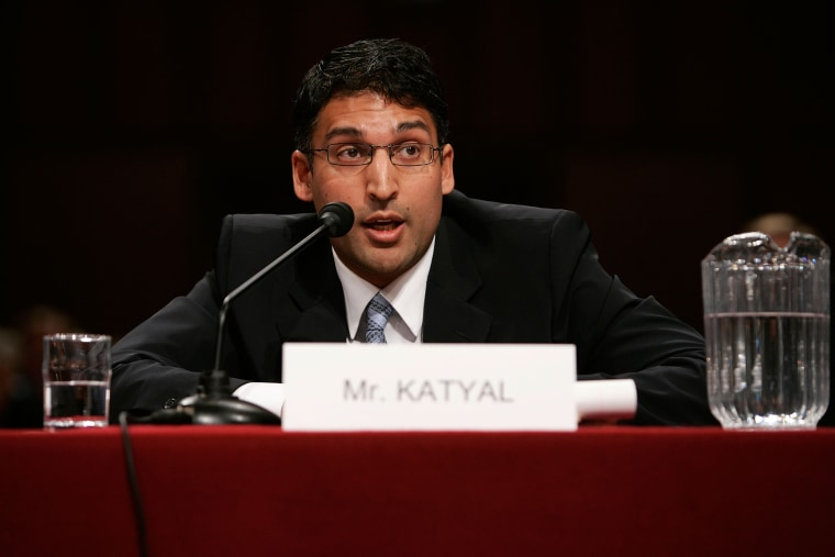 Image: Neal Katyal testifies during a hearing before the Senate Armed Services Committee