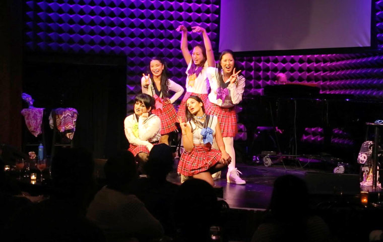 Image: AzN PoP performing at Joe's Pub in New York City.