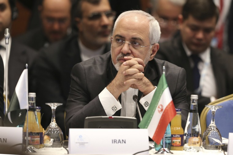 In this Dec. 13, 2017, photo, Iran's Foreign Minister Mohammad Javad Zarif attends the Foreign Ministers meeting within the Organisation of Islamic Cooperation Extraordinary Summit in Istanbul.