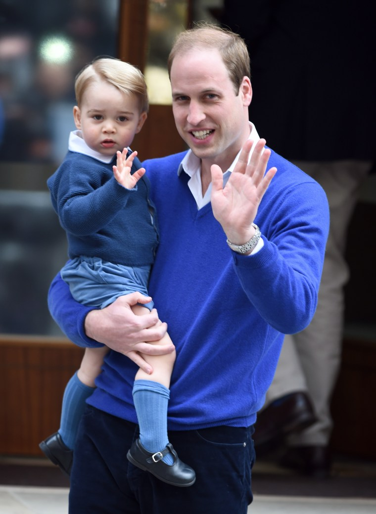 Prince William with son, Prince George