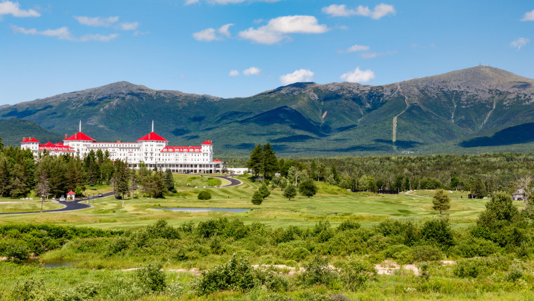 Situated near the Bretton Woods ski area, Omni Mount Washington Resort offers zip-lining, golf, a spa, and of course, these sweeping views.