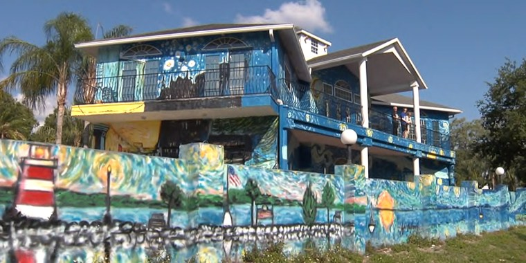 "The house is painted to look like Vincent Van Gogh's ""Starry Night,"" but the city took issue with the artwork."