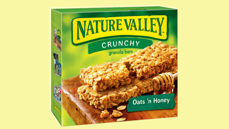 The crumble king: Nature Valley granola bars!