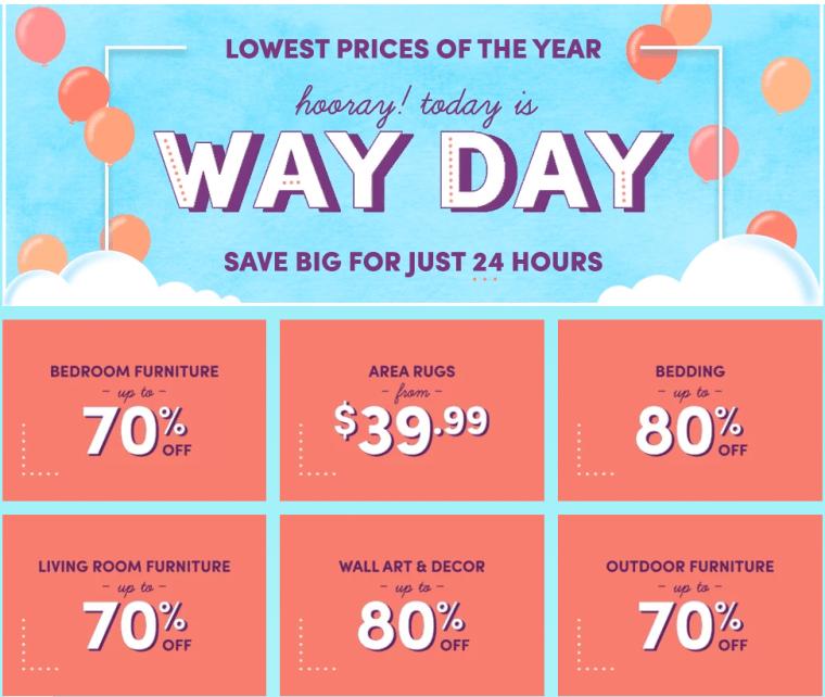 Way Day sales
