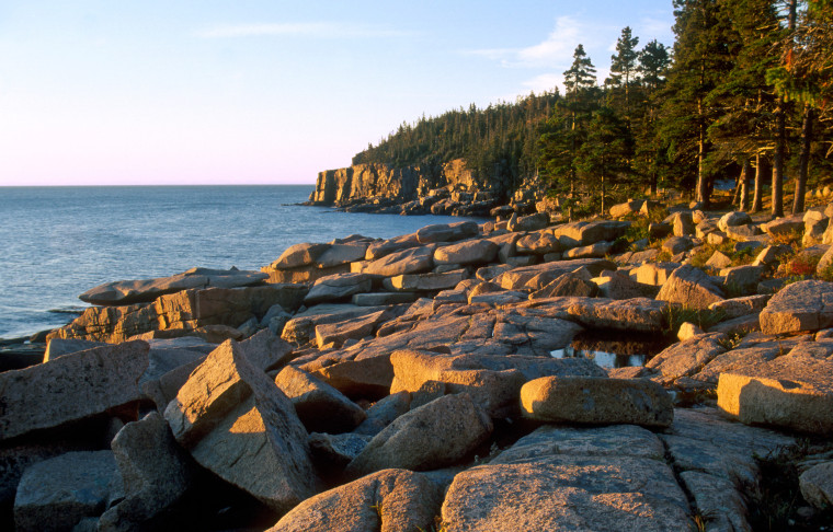 Otter Cliffs on Maine Coastline