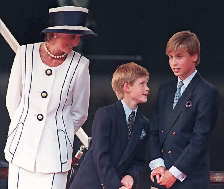 The two princes and their mom in 1995.