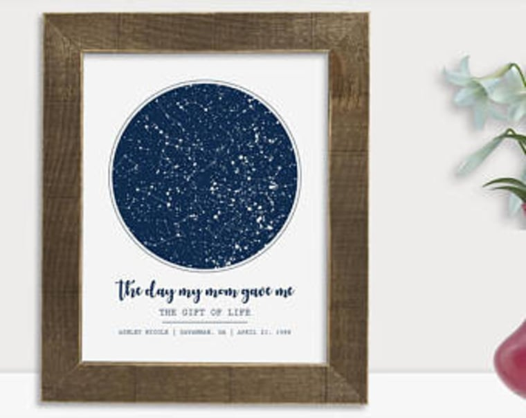 Our Love Was Born Starry Sky Print