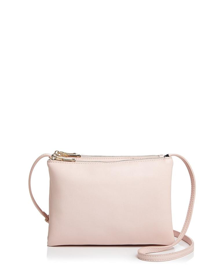 Aqua triple-pouch handbag