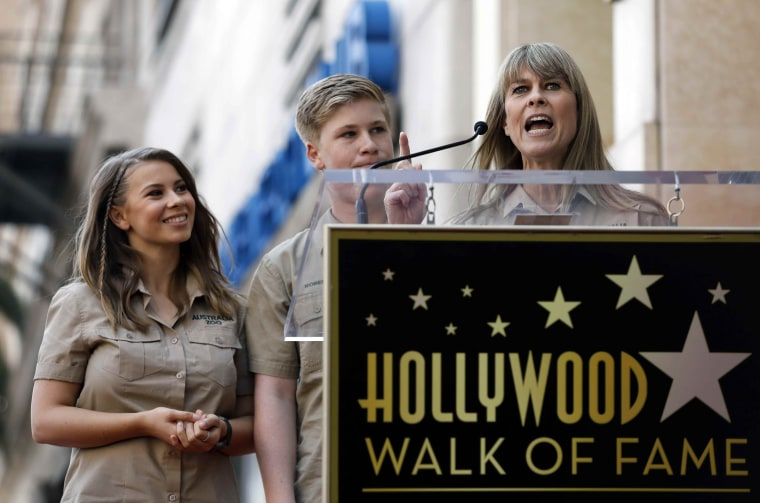 Image: Late Steve Irwin honored with star on Hollywood Walk of Fame