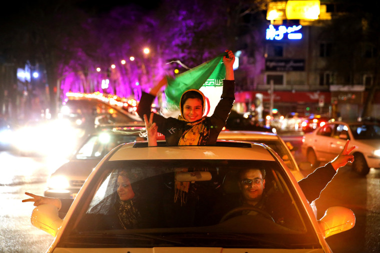 Image: Iranians celebrate in 2015