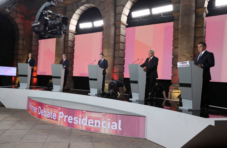 Image: Presidential candidates hold debate and address security, corruption and impunity in Mexico City