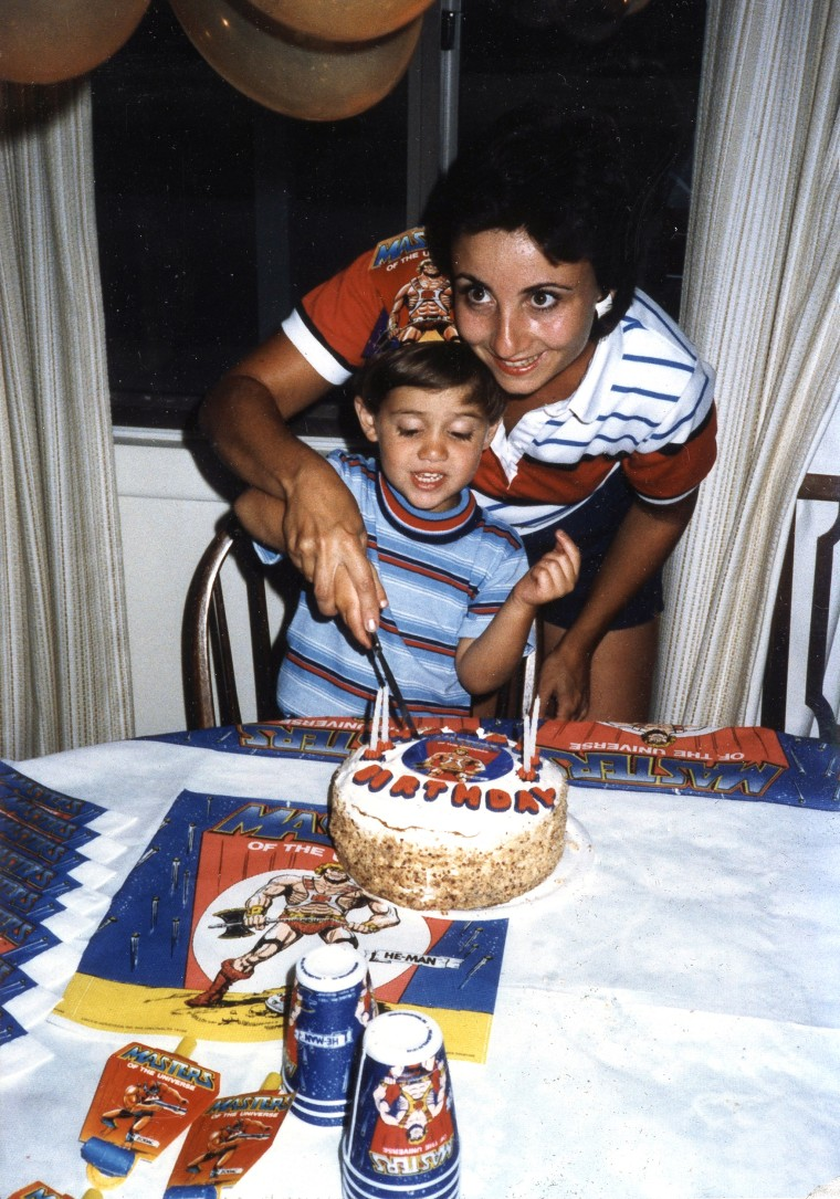 Image: Nancy Seaman celebrates her son Greg's birthday