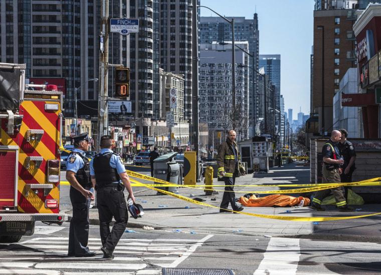 Image: Toronto collision scene