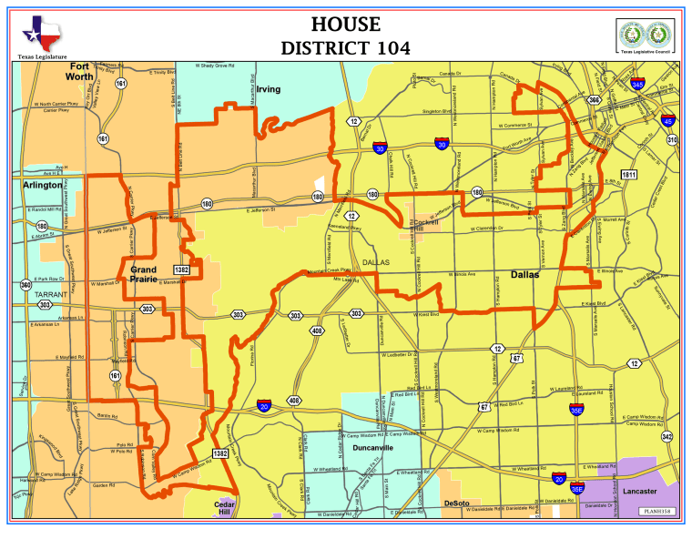This Texas House district is one of nine state legislative districts and two congressional districts that have been at the center of the state's redistricting battle which the U.S. Supreme Court was to take up on April 24, 2018.