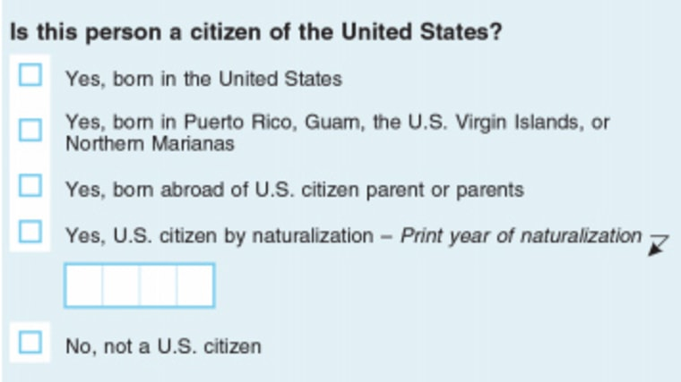 Image: The census citizenship question