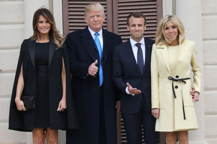 Image: President Donald Trump hosts French President Emmanuel Macron