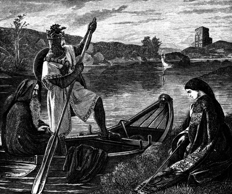 Image: An engraving of King Arthur
