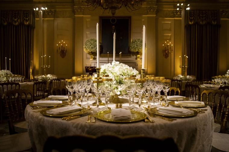 Image: Trump state dinner