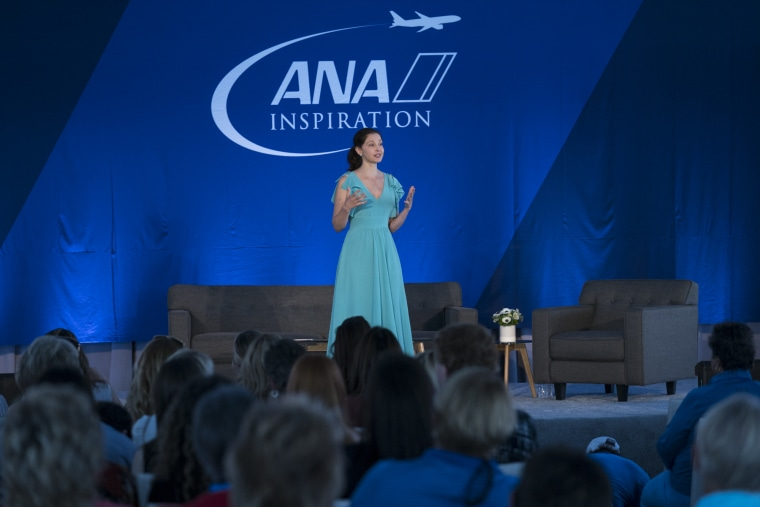 Ashley Judd delivered the keynote address at the ANA Inspiring Women in Sport Conference at Mission Hills Country Club in Rancho Mirage, CA.