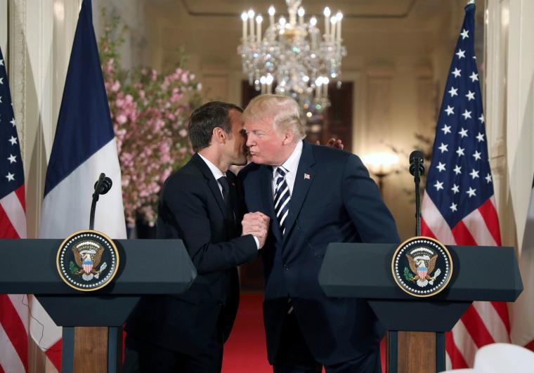 Image: US-FRANCE-DIPLOMACY-POLITICS-TRUMP-MACRON